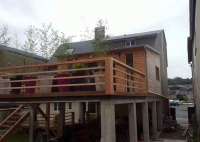 Deux terrasses et une extension en ossature bois à Fécamp