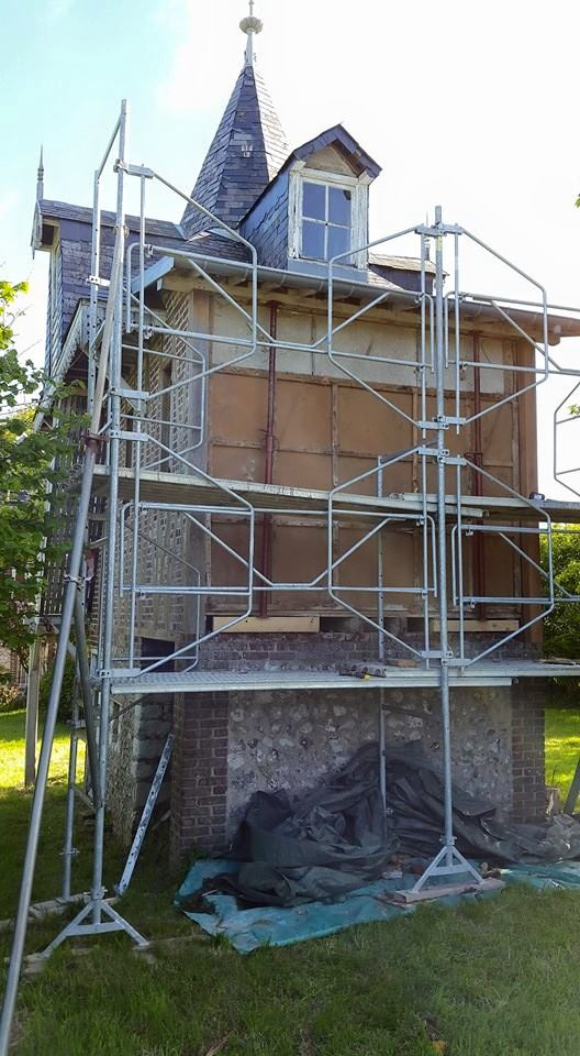 Réfection de colombages normands - charpente