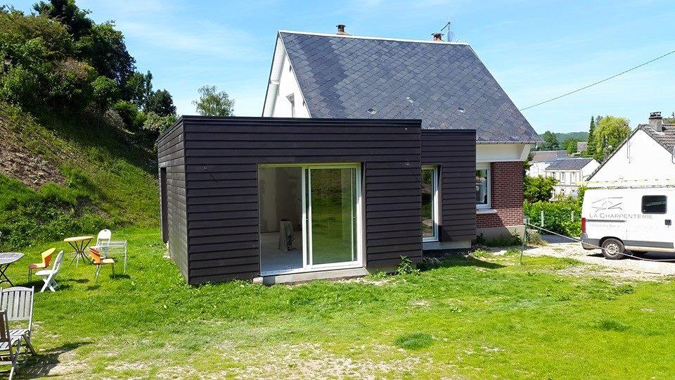 Isolation thermique extérieure et ossature bois à Fécamp