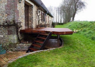 Réalisation de deux terrasses bois à Pierrefiques